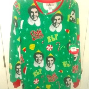 Buddy The Elf OMG Santa Union Suit Pajamas -Small